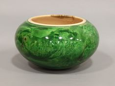 green maple burl bowl ~ Michael Jones