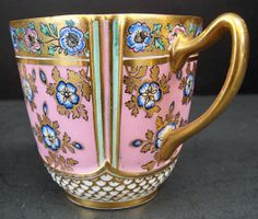 Antique Aesthetic Copeland Demitasse Cup & Saucer