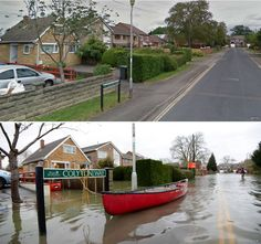Purley-On-Thames, Berkshire, England, during the floods.
