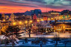 Kansas City Plaza Lights....love this sunset photo