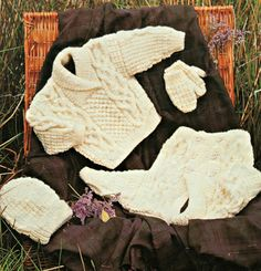 Aran Knitting Patterns Children Sizes 16-30 inches by elanknits (Craft Supplies & Tools, Patterns & Tutorials, Fiber Arts, Knitting, baby sweater pattern, kids sweater pattern, kids mittens pattern, knitting patterns, knitting pattern, jumper pattern, sweater pattern, cardigan pattern, baby hat pattern, Peter Gregory, aran sweater pattern, aran patterns, aran mittens pattern)