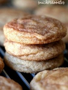 The BEST most PERFECT Snickerdoodle cookie recipe ever! Super soft and buttery, loaded with cinnamon and sugar. Plus, there's no chilling the dough necessary, so they can be made QUICK! # quick Baking The Perfect Snickerdoodle Cookie Recipe Easy Snickerdoodle Recipe, Just Desserts, Delicious Desserts, Dessert Recipes, Yummy Food, Recipes Dinner, Cokies Recipes, Chocolate Desserts, Drink Recipes