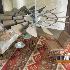 """60"""" Rustic Windmill Ceiling Fan: from Shades of Light"""