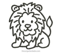 Embroidered Lion Design for Free Border Embroidery designs Border Embroidery Designs, Types Of Embroidery, Computerized Embroidery Machine, Machine Embroidery, Lion Design, Janome, Cute Designs, Madonna, Stitch
