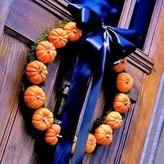 I can use my home grown mini pumkins to make this wreath.
