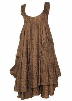 Could make the bottom half of this pinafore from a skirt.