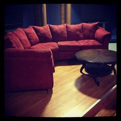 The famed red couch.
