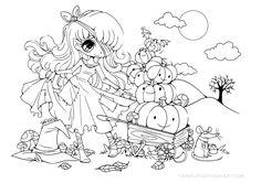 Halloween Pumpkin Princess Lineart by YamPuff.deviantart.com on @deviantART