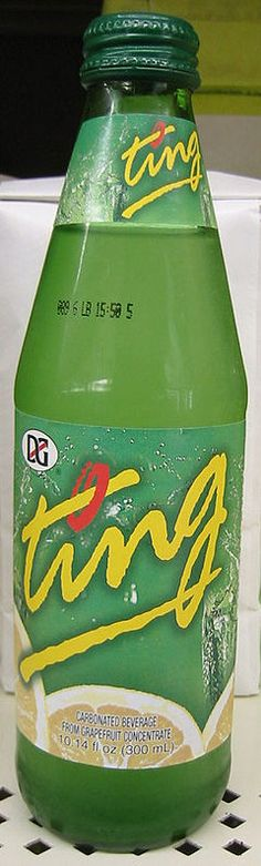 Ting, a soft drink made with grapefruit. A #Jamaican favourite!