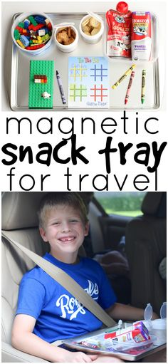 This DIY Magnetic Snack Tray for travel is the perfect road trip companion for kids of all ages. The containers are magnetic so everything stays put.