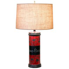 Bagni for Raymor Large Italian Pottery Apothecary Jar Lamp   From a unique collection of antique and modern table lamps at https://www.1stdibs.com/furniture/lighting/table-lamps/