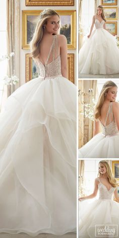 Fall In Love With These Fantastic Details Of Bridal Dresses ❤ Wedding dress details make gowns more stunning and unique. See more: http://www.weddingforward.com/bridal-dresses/ #wedding  #bridal #dresses