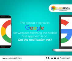 Google had already announced that it would be changing the indexing criteria to a mobile-first approach. And now Google has started the rollout process for websites that follow the new guidelines. Websites that have been listed would be notified via the search console. #Googleupdates #GoogleNews #CubeReach