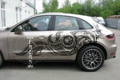 Аэрография в стиле трайбл на Porsche Macan. #airbrush #cars #auto #porsche #tribles #syle #fashion