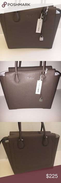 New michael kors purse New! Still has tags! Style: MERCER. Large satchel. Color: CINDER. Willing to consider reasonable offers , no lowballing. No trades. Michael Kors Bags Satchels