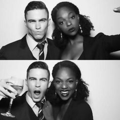 Gorgeous interracial couple in black and white