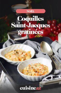 Cette recette de coquilles Saint Jacques gratinées est expliquée à l'écrit et en vidéo ! #recette#cuisine#saintjacques#entree #gratin #noel#fete#findannee #fetesdefindannee