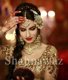 Pakistani Bride ♡ ❤ ♡ Pakistani Wedding Dress .  Pakistani Style. Follow me here MrZeshan Sadiq