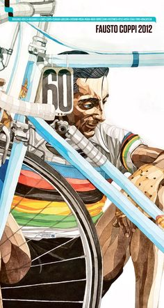 This 2012 Calendar is dedicated to Fausto Coppi, desired by his sons Marina and Faustino. This beautiful cover is a watercolor painting made ​​especially for us by the artist Claudio Pesci from Bologna, president of Fausto and Serse Coppi Association in Castellania (AL). It contains articles by most important journalists of cycling and photographs of our Airone. This is a limited edition of 1000 copies and proceeds will be donated to charity. #ciclismo #bike #bici #calendario #tortona