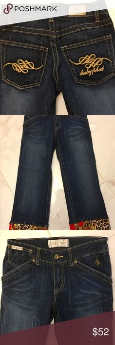 Cute Baby Phat Jeans. New Cute Baby Phat Jeans! New with tags. Check out my closet for matching jacket! Baby Phat Jeans Ankle & Cropped