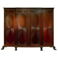 Anglo-Indian Carved Regency Form Cabinet | From a unique collection of antique and modern wardrobes and armoires at http://www.1stdibs.com/furniture/storage-case-pieces/wardrobes-armoires/