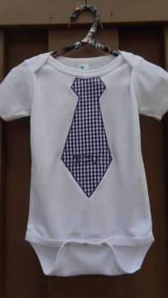 TCU Embroidered Tie Onesie or T-Shirt