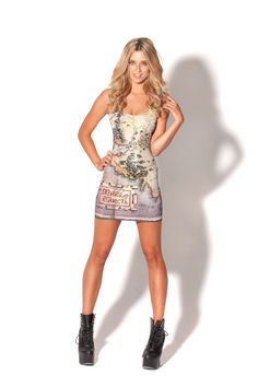 The Hobbit Map Dress by Black Milk Clothing