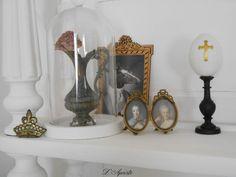 Shabby décor : roses, crown, egg, cross