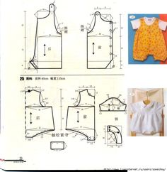 This schemes showing us how to design baby dress size when we trying to make it myself.This Pin was discovered by Ste Baby Dress Patterns, Baby Clothes Patterns, Sewing Patterns For Kids, Sewing For Kids, Baby Sewing, Coat Patterns, Blouse Patterns, Baby Mobile, Romper Pattern