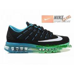 save off e4913 edde2 Nike Air Max 2016 Chaussures Nike Running Pas Cher Pour Homme Noir Bleu  Vert Blanc-Boutique de Chaussure Nike France,Livraison Gratuite!