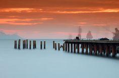 """Sunset and Fishermen"" - by photographer Omur Kahveci"