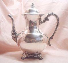 Victorian coffee pot silver plated WM. A. door MyVintageRoseShop
