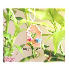 Little bird house polymer clay
