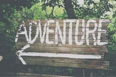 Adventure is that way! All The Bright Places, Oh The Places You'll Go, Adventure Awaits, Adventure Travel, Adventure Quotes, Pale Tumblr, Voyager C'est Vivre, Wanderlust, Reasons To Smile
