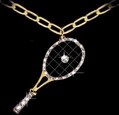 Artistic gold sports tennis jewelry by a renown sculptor to the jewelry trade