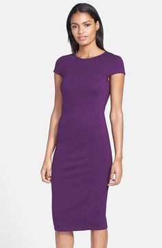 FELICITY & COCO Seamed Pencil Dress #purple