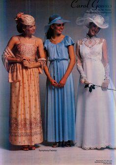 Brides Magazine, Feb/Mar 1980 Vintage Wedding Photos, Vintage Weddings, Vintage Bridal, Wedding Attire, Wedding Gowns, 1980s Wedding Dress, Fashion Dresses, Women's Fashion, Bridal Looks