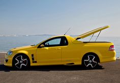 The Holden Maloo is part car and part truck, like the classic El Camino. A massive engine also means it's viciously fast. Australian Muscle Cars, Aussie Muscle Cars, Chevrolet Lumina, Chevrolet Ss, Pickup Car, Pickup Trucks, Holden Maloo, Holden Australia, Pontiac G8