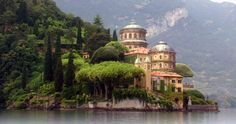 Villa del Balbianello at Lake Como a.k.a. Varykino on Naboo in Star Wars.