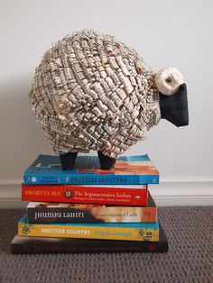 She Cut Old Books Into Hundreds Of Strips, Scales, And Curls, And Turn Them Into Animal Sculptures [via Bored Panda] Utilizing the…