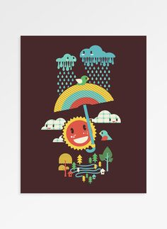 After The Rain Comes The Rainbow Art Print