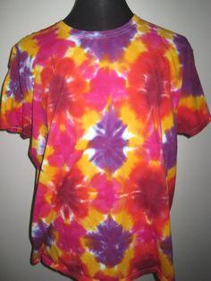 3X large Tie dye Tshirt Ladies Cut Bright Colors by AlbanyTieDye, $23.00