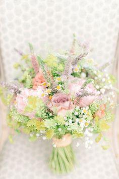 Bouquet Pink Lilac Peony Rose Daisy Bride Bridal Flowers Rustic Summer Country DIY Barn Wedding http://sarahjaneethan.co.uk/