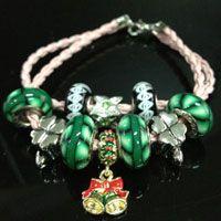 Hippocampe Européen CZ Crystal Charm Silver Spacer Beads Fit Collier Bracelet