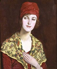 william strang paintings | The Red Cap - William Strang as art print or hand painted oil.