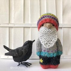 """Gudrun Dahle on Instagram: """"🧶 Here's the knitty kid who wants to wear this hat. 🧶 . (He's been sold.)"""" Knitted Dolls, Winter Hats, Chiffon, Crochet Hats, Textiles, Kid, Knitting, Toys, Pattern"""