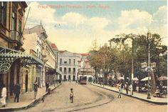 Praça da Alfândega na década de 1910.