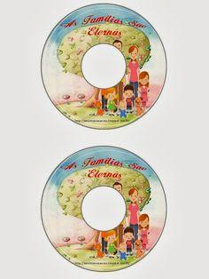 """Etiqueta para CD do Tempo de Compartilhar - """"As Famílias São Eternas"""" 2014"""
