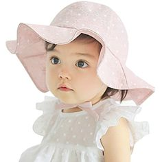 Evelin LEE Baby Infant Lovely Floral Embroidered Floppy Wide Brim Sun Cap  Summer Outdoor Baby Girl Boy Sun Beach Cotton Hat-Style 2 Pink ce3232851711