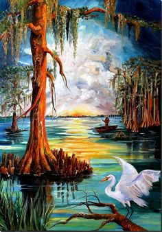"""Sunrise on the Bayou"" by Diane Milsap"